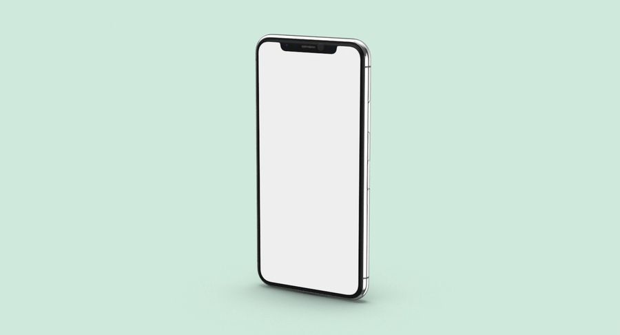 Smartphone model royalty-free 3d model - Preview no. 3