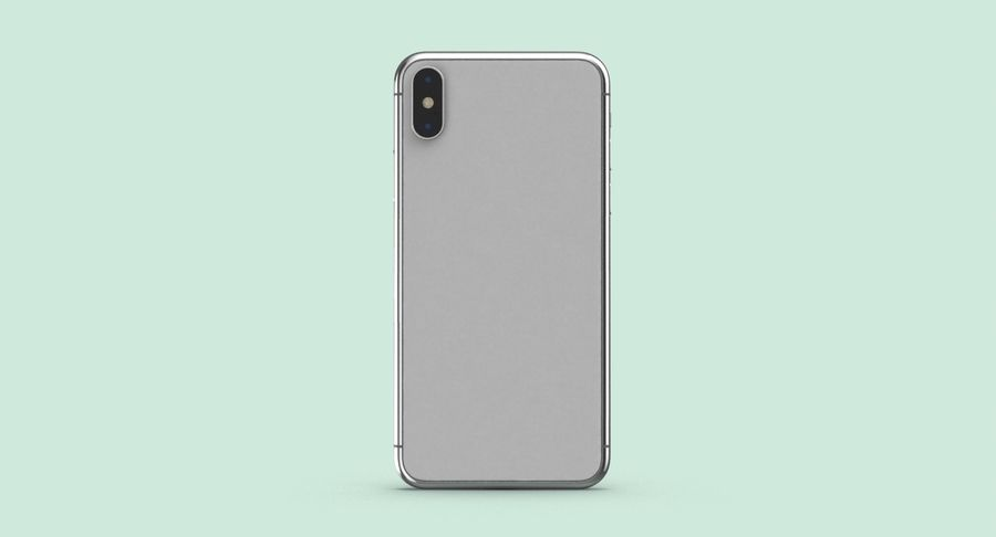 Smartphone model royalty-free 3d model - Preview no. 9