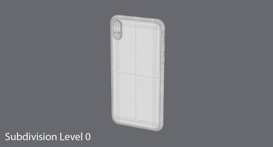 Smartphone model royalty-free 3d model - Preview no. 16