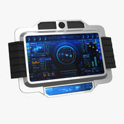 Sci-fi Touch Pad 2 3d model