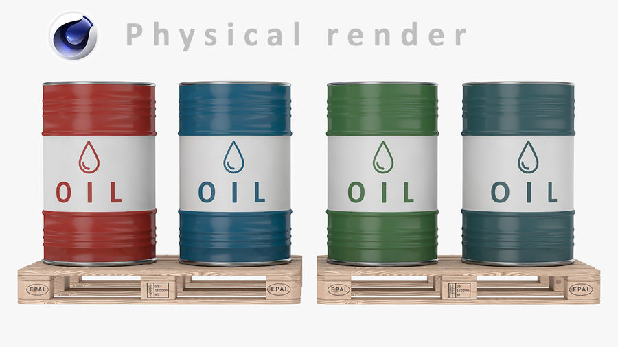 Steel Barrel with pallet_01 royalty-free 3d model - Preview no. 13