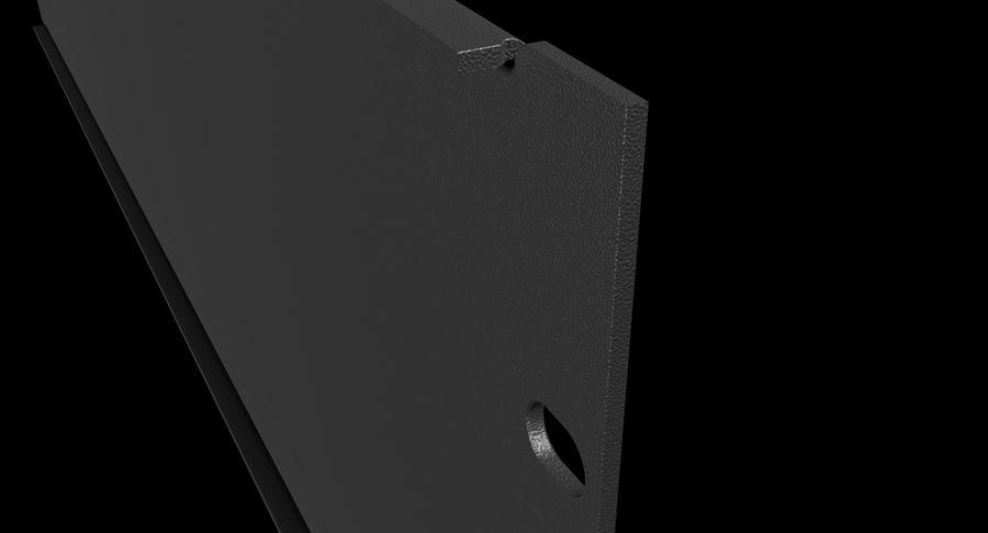 19-дюймовая панель для монтажа в стойку 3U royalty-free 3d model - Preview no. 6