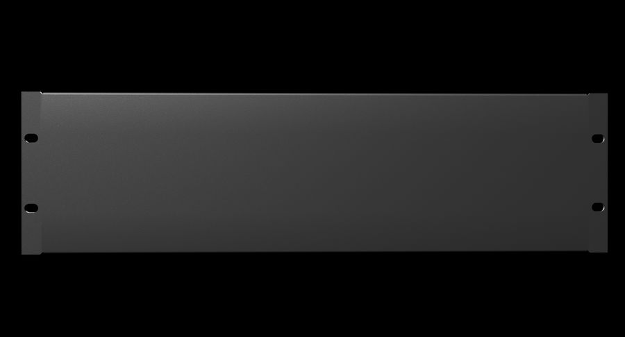 19-дюймовая панель для монтажа в стойку 3U royalty-free 3d model - Preview no. 3