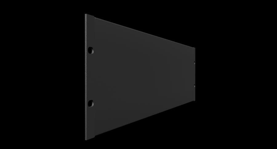 19-дюймовая панель для монтажа в стойку 3U royalty-free 3d model - Preview no. 2
