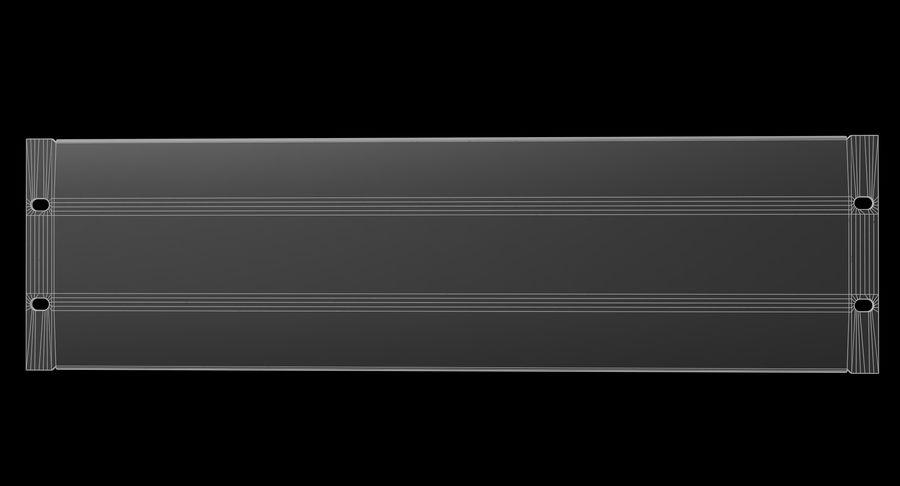 19-дюймовая панель для монтажа в стойку 3U royalty-free 3d model - Preview no. 13