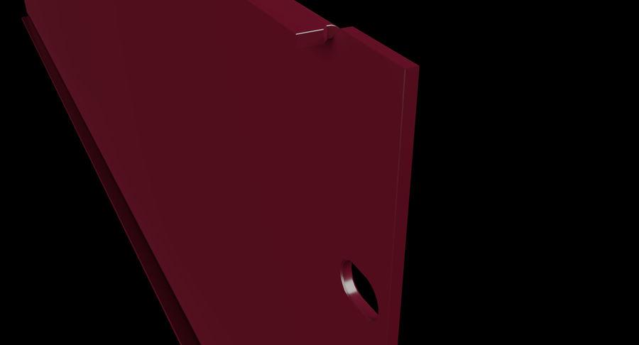 19-дюймовая панель для монтажа в стойку 3U royalty-free 3d model - Preview no. 8
