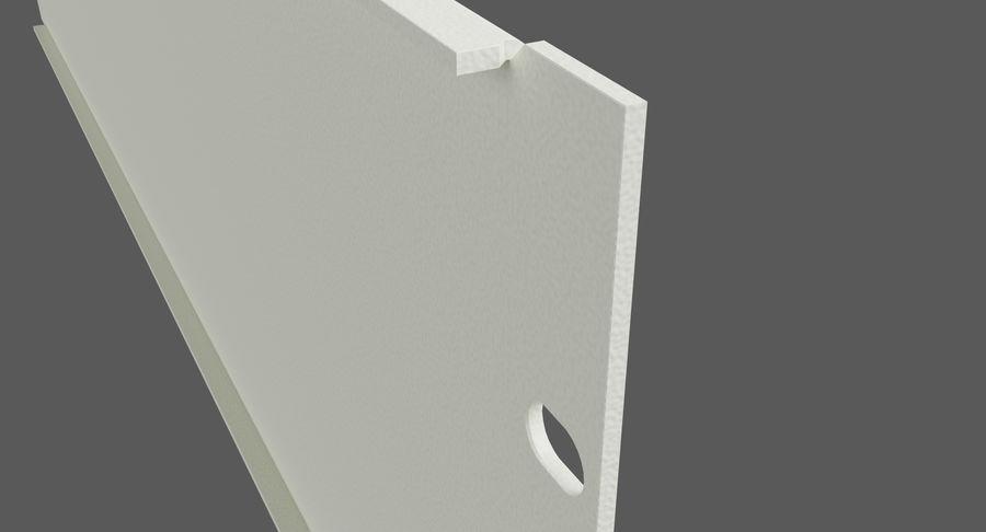 19-дюймовая панель для монтажа в стойку 3U royalty-free 3d model - Preview no. 7