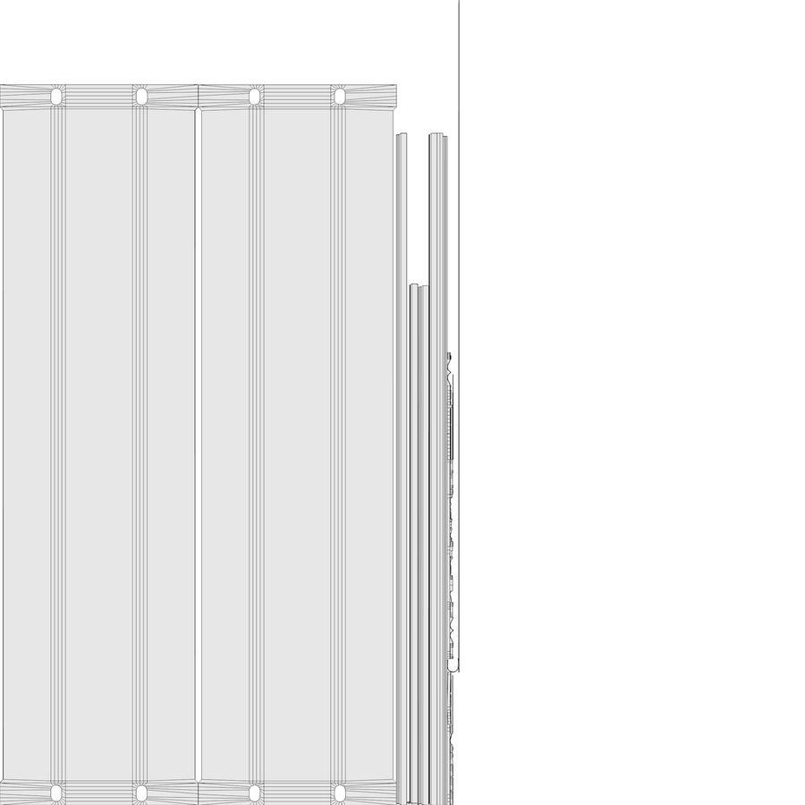 19-дюймовая панель для монтажа в стойку 3U royalty-free 3d model - Preview no. 12