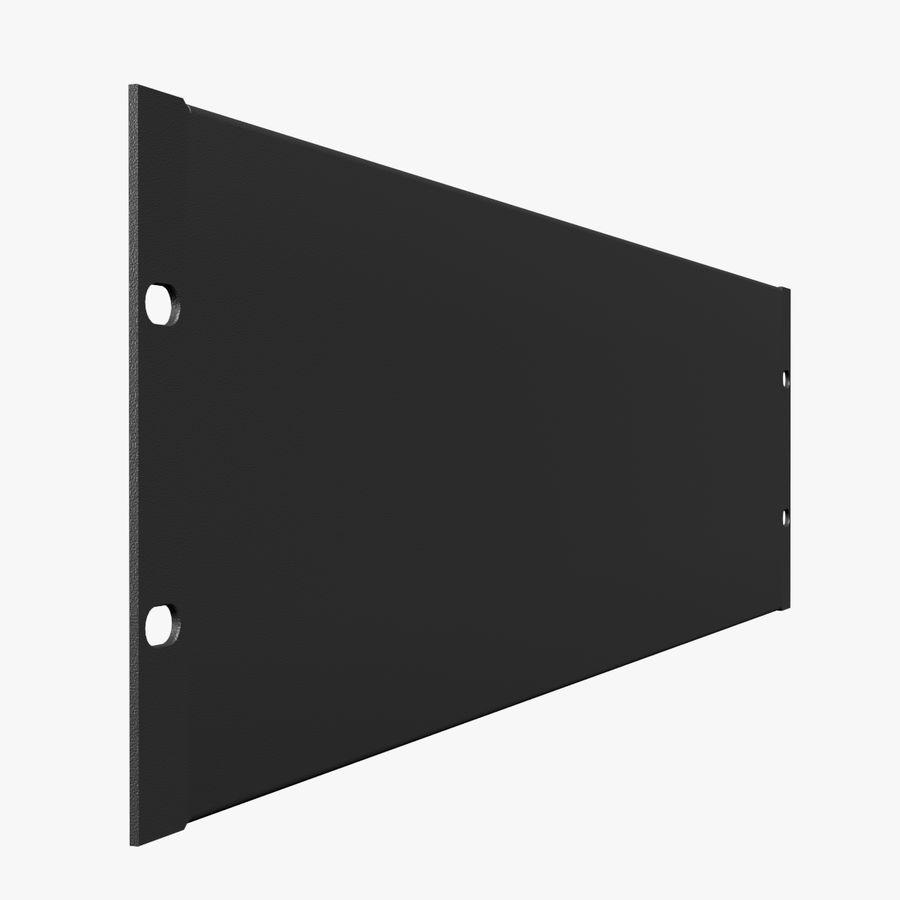 19-дюймовая панель для монтажа в стойку 3U royalty-free 3d model - Preview no. 1