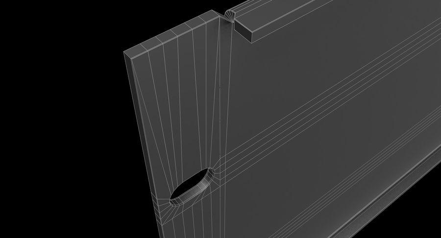 19-дюймовая панель для монтажа в стойку 3U royalty-free 3d model - Preview no. 14