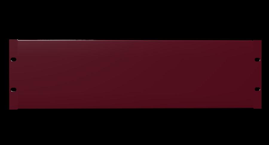 19-дюймовая панель для монтажа в стойку 3U royalty-free 3d model - Preview no. 5