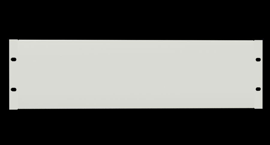 19-дюймовая панель для монтажа в стойку 3U royalty-free 3d model - Preview no. 4