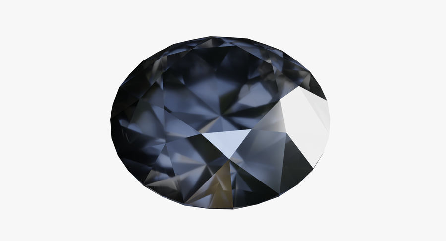 黑钻石 royalty-free 3d model - Preview no. 5