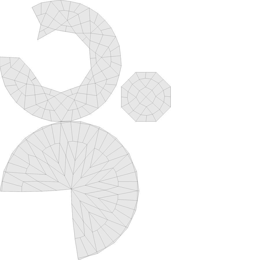 黑钻石 royalty-free 3d model - Preview no. 11