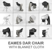 Eames Plastic Armchair DAR: Charles & Ray Eames met dekendoek 3d model