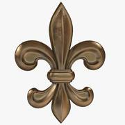 Fleur-de-Lis in bronzo 3d model