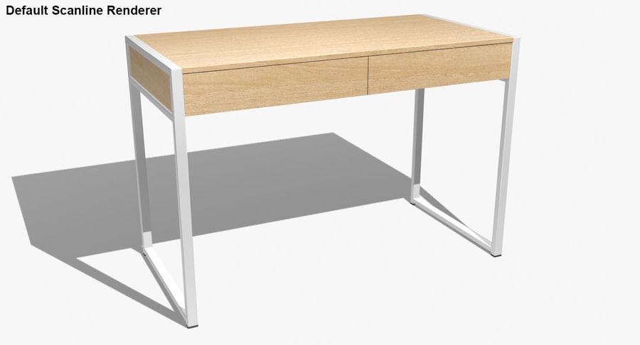 Drawer Desk royalty-free 3d model - Preview no. 22