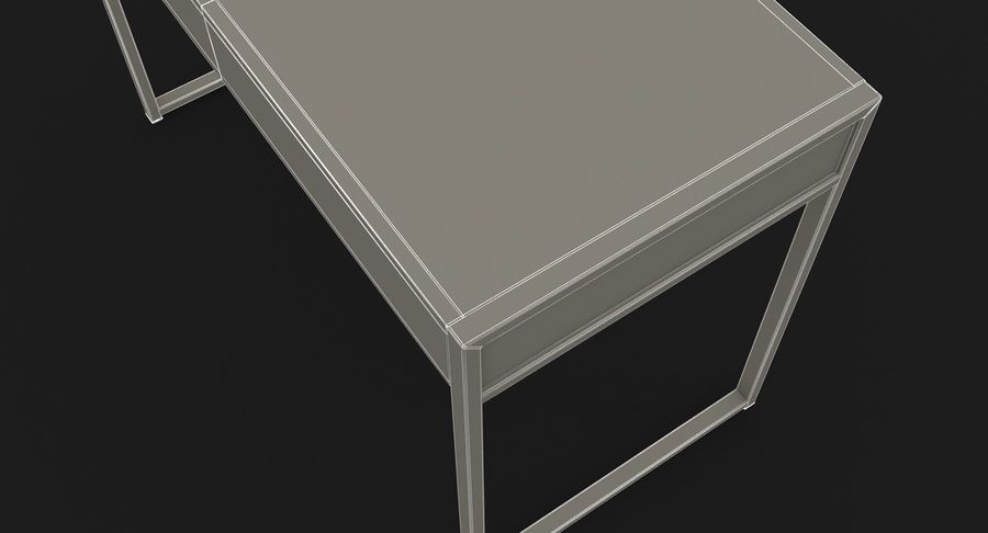 Drawer Desk royalty-free 3d model - Preview no. 20