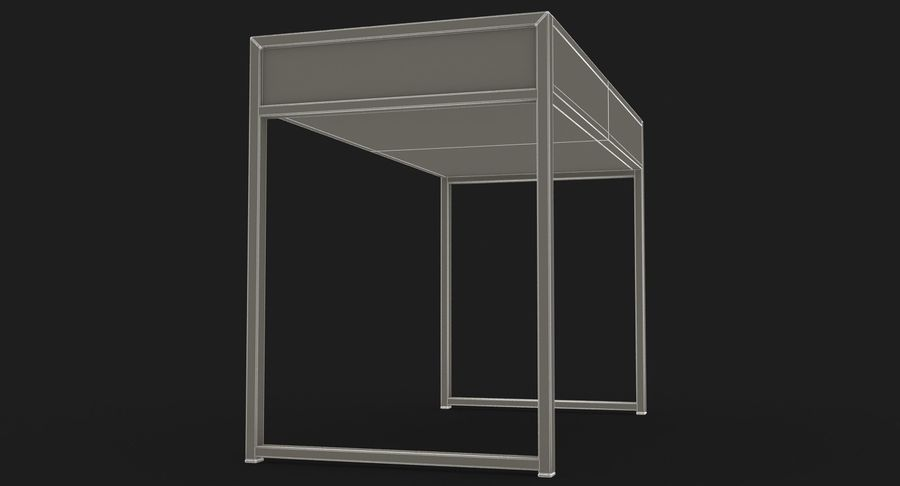 Drawer Desk royalty-free 3d model - Preview no. 19