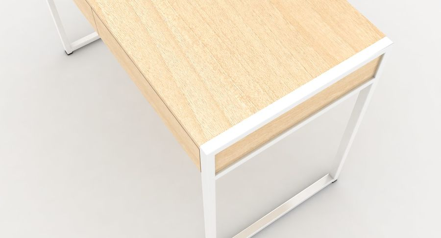 Drawer Desk royalty-free 3d model - Preview no. 8