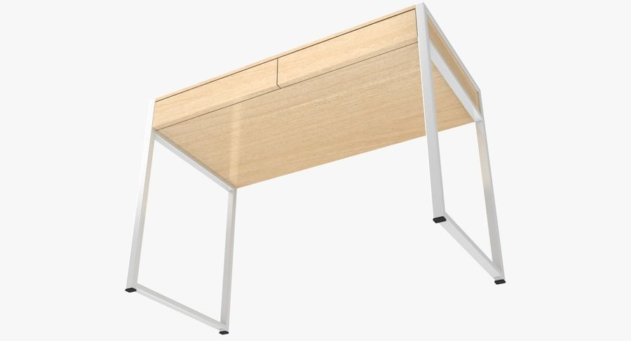 Drawer Desk royalty-free 3d model - Preview no. 16