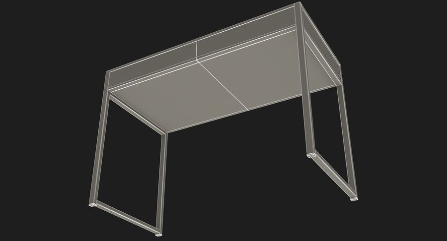 Drawer Desk royalty-free 3d model - Preview no. 17