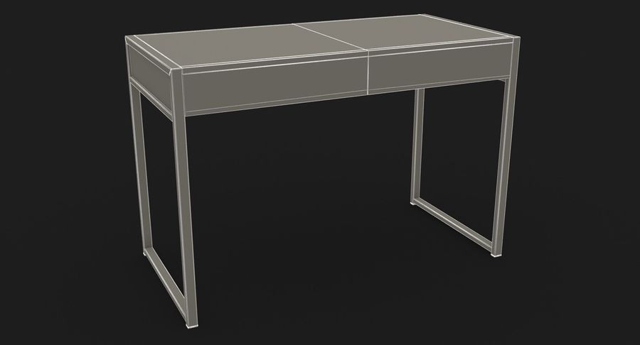 Drawer Desk royalty-free 3d model - Preview no. 21