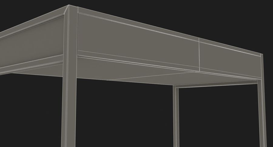 Drawer Desk royalty-free 3d model - Preview no. 18