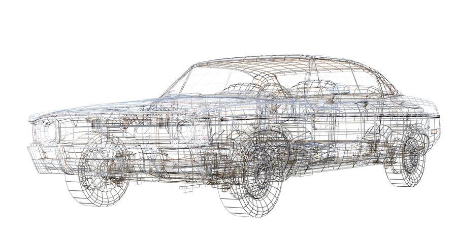 Универсальный автомобиль-купе royalty-free 3d model - Preview no. 11