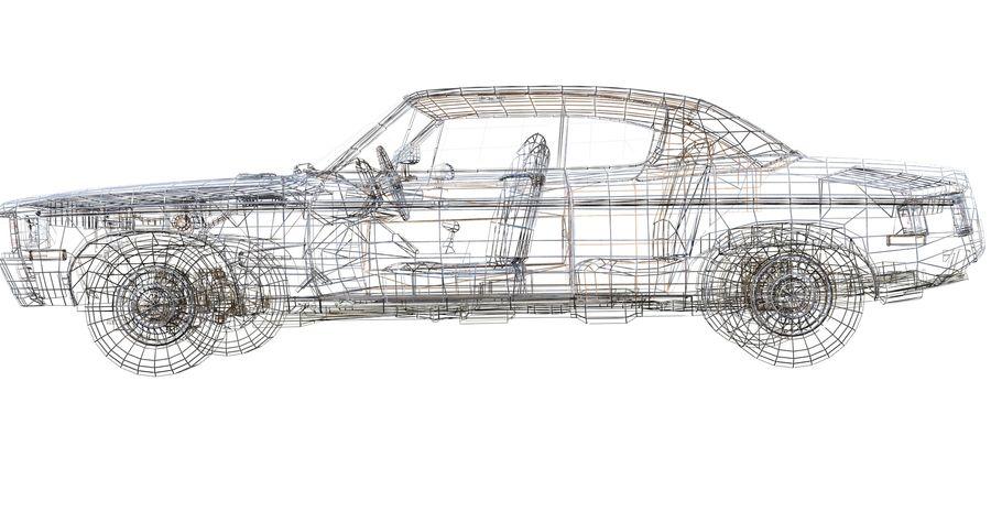 Универсальный автомобиль-купе royalty-free 3d model - Preview no. 10