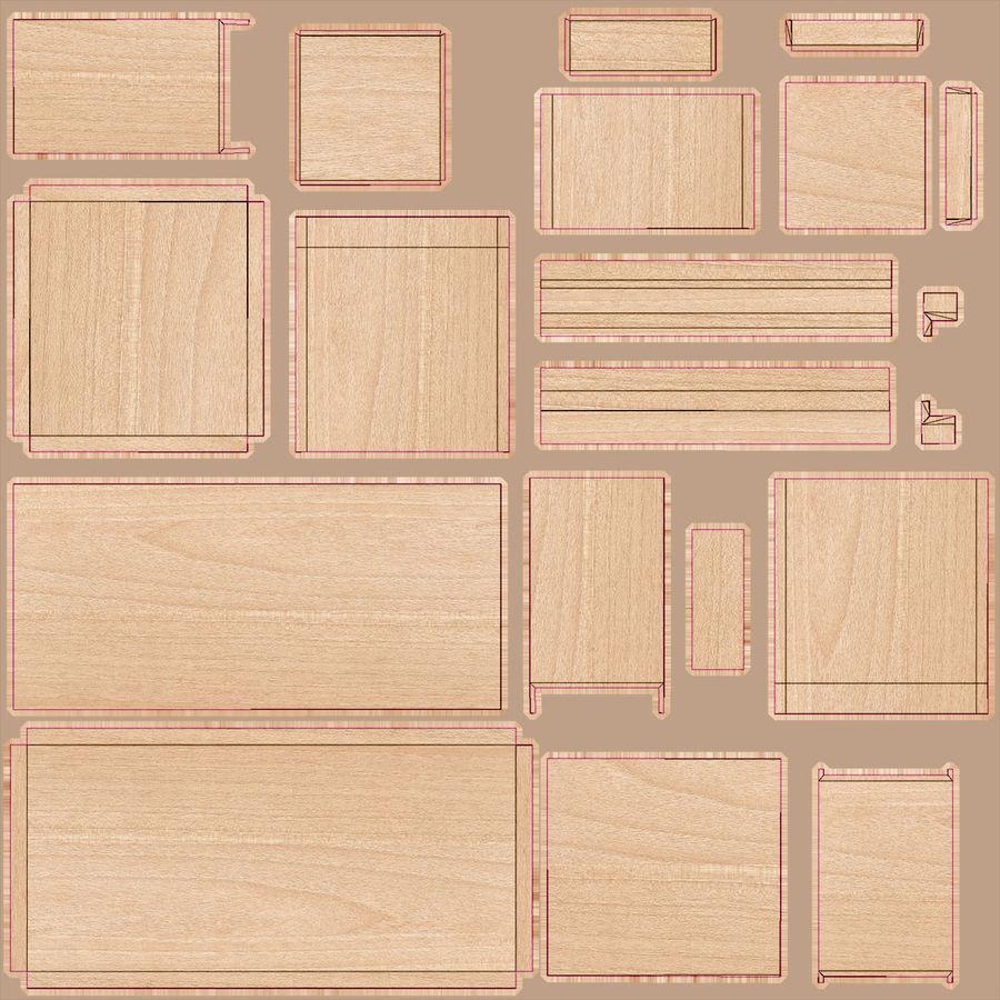 Ikea Malm Schreibtisch royalty-free 3d model - Preview no. 24