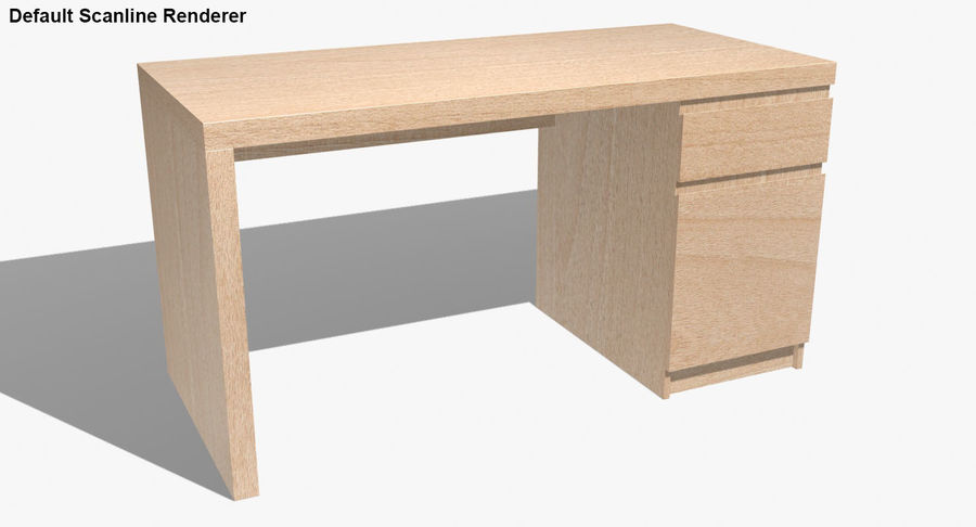Ikea Malm Schreibtisch royalty-free 3d model - Preview no. 23