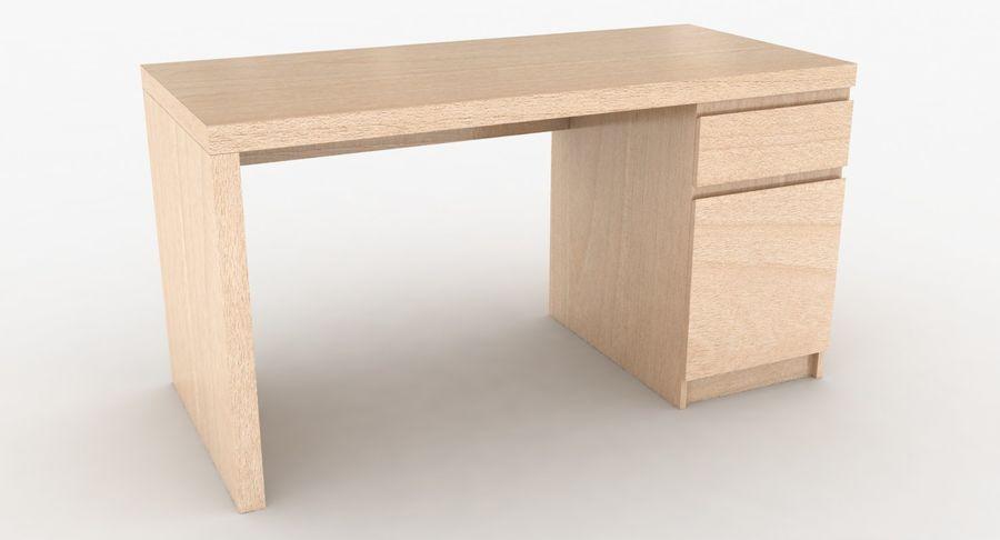Ikea Malm Schreibtisch royalty-free 3d model - Preview no. 3