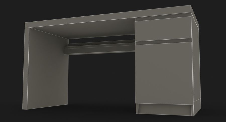 Ikea Malm Schreibtisch royalty-free 3d model - Preview no. 20