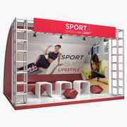 Stand de chaussures de sport d'exposition 3d model