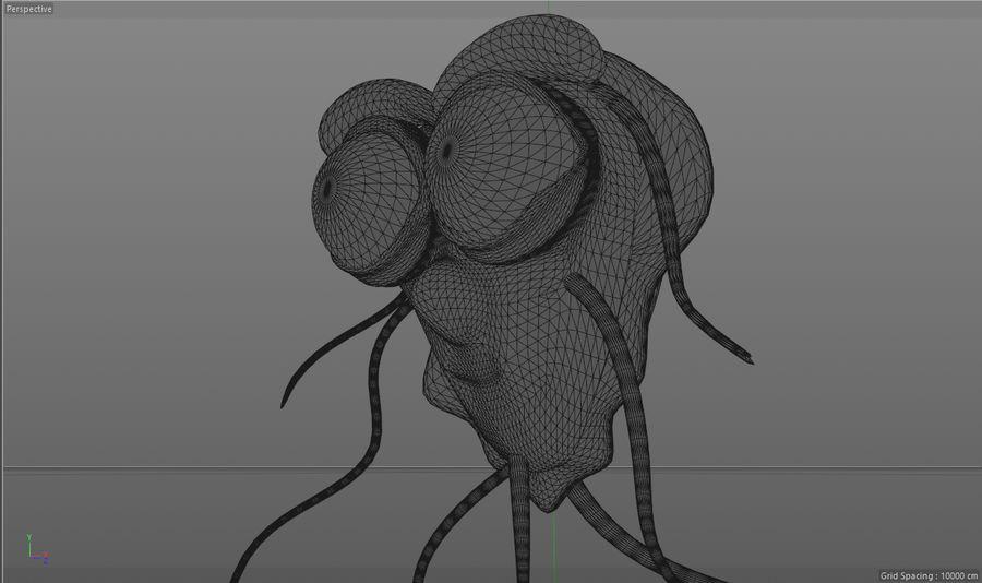 Yabancı Virüs Karakteri royalty-free 3d model - Preview no. 12