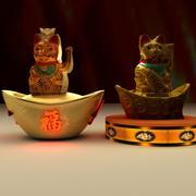 Chinesische glückliche Katze 3d model