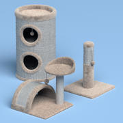Pacote de árvore de gato 3d model