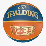 3D Spalding Ball TF-33 Gold - Basketball 3d model