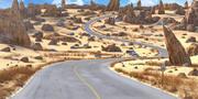 Desert Road Cartoon 3d model