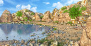 克里克海滩海景 3d model