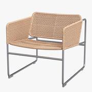 Ikea Industriell fauteuil natuurlijk grijs 3d model