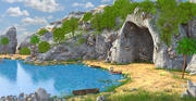 Praia da caverna da fantasia 3d model