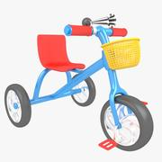 三轮车儿童三轮车自行车 3d model