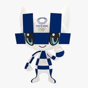 Tokyo 2020 Games Maskotka 3d model