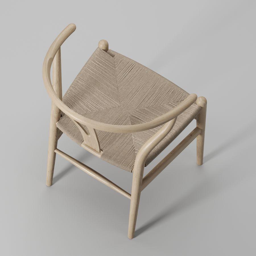 Krzesło Wishbone CH24 royalty-free 3d model - Preview no. 5