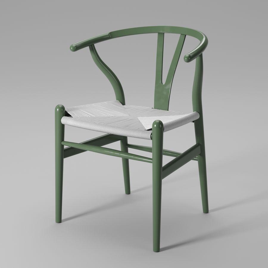 Krzesło Wishbone CH24 royalty-free 3d model - Preview no. 11