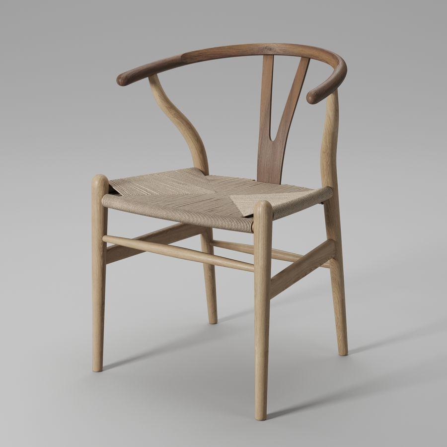 Krzesło Wishbone CH24 royalty-free 3d model - Preview no. 16