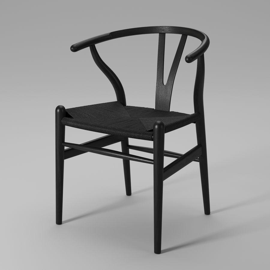 Krzesło Wishbone CH24 royalty-free 3d model - Preview no. 9