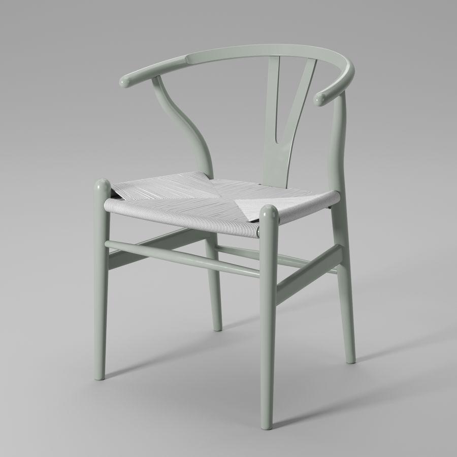 Krzesło Wishbone CH24 royalty-free 3d model - Preview no. 12